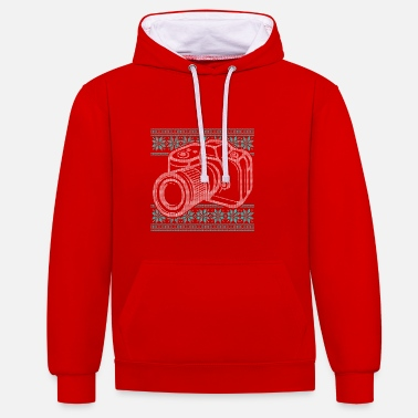 Camera Shop Ugly Sweater Camera Photography Design - Contrast Colour Hoodie
