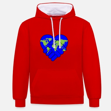 Schland peace for the world - Contrast Colour Hoodie