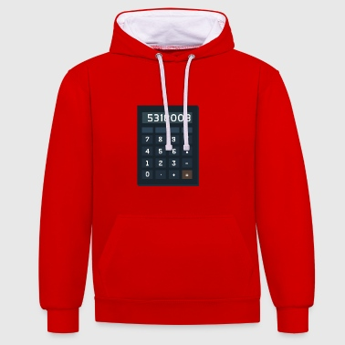 BOOBIES calculator - Contrast Colour Hoodie