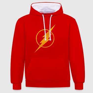 Superhelden Justice League The Flash Logo Snapback Cap - Kontrast-Hoodie