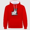 this girl loves her border - Contrast Colour Hoodie