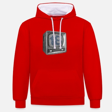 Date Of Birth Date of birth 18 years - Contrast Colour Hoodie