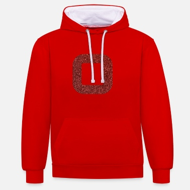 SQUARES VIERECKE RED 17 - Contrast hoodie