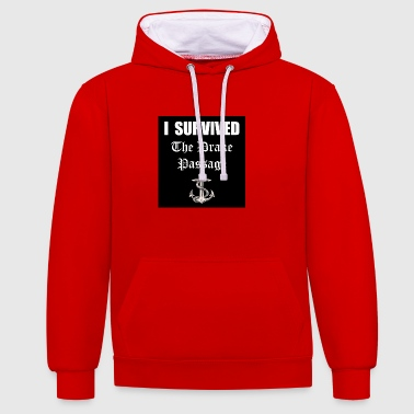 I Survived - Contrast Colour Hoodie