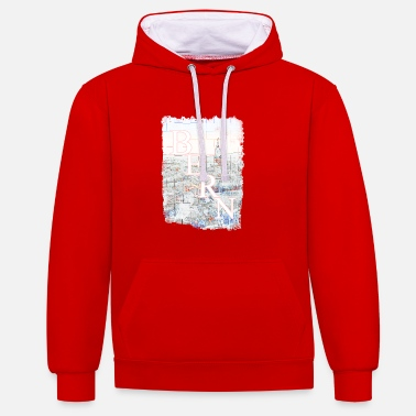 Old Town Switzerland capital Bern old town - Contrast Colour Hoodie