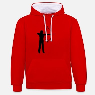 Archer archery, archer - woman - Sweat-shirt contraste