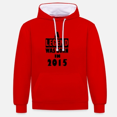 2015 2015 - Contrast Colour Hoodie