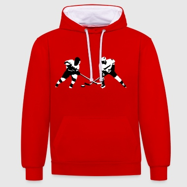Ice hockey - Contrast Colour Hoodie