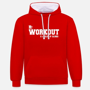 Gym motivation sports fitness - Contrast Colour Hoodie