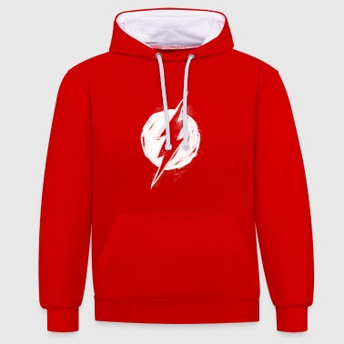 Superhelden DC Comics Justice League The Flash Logo - Kontrast-Hoodie