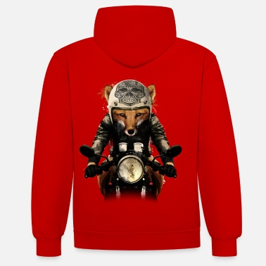 Bikes And Cars Collection Fox Biker - Contrast hoodie