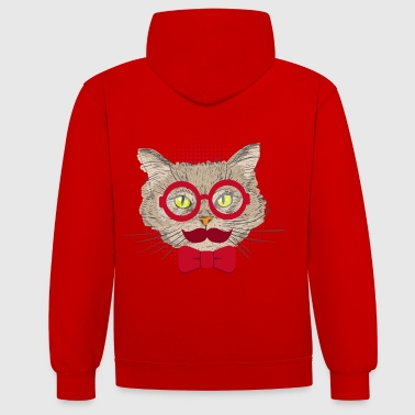 Tête De Chat tête de chat - Sweat-shirt contraste