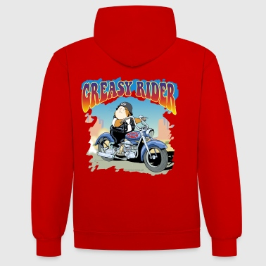 Rider gras - Sweat-shirt contraste