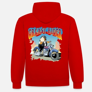 Greasy Rider - Contrast Colour Hoodie