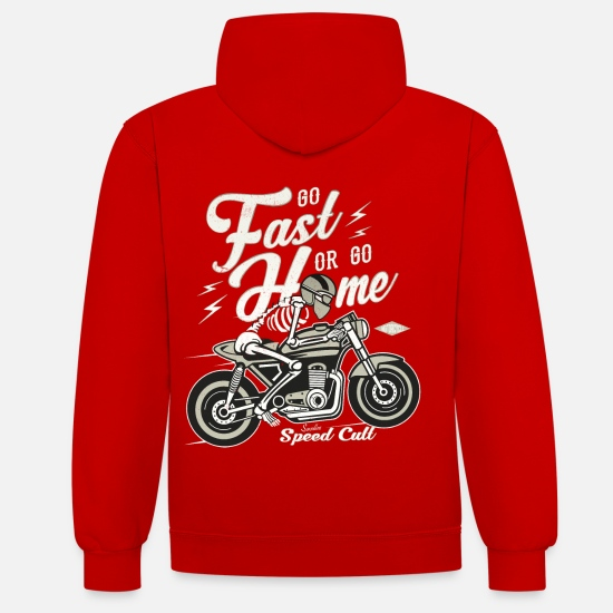 Bikes And Cars Collection V2 Hoodies & Sweatshirts - Go Fast Or Go Home - Unisex Contrast Hoodie red/white
