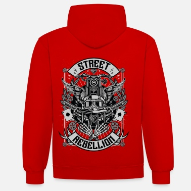 Street Rebellion - Contrast Colour Hoodie