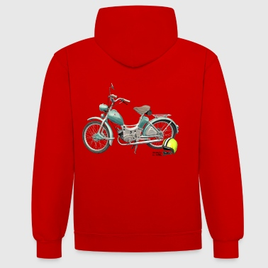 SR Simson Moped DDR oldschool ossi best roller GDR - Contrast Colour Hoodie