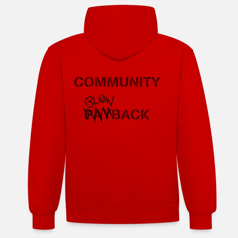 Misfits Hoodies & Sweatshirts - Community Blowback - Unisex Contrast Hoodie red/white