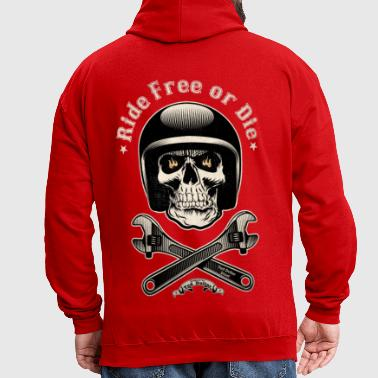 Ride free or die vintage - Sweat-shirt contraste