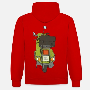 Bikes And Cars Collection 2 wheels - Contrast Colour Hoodie