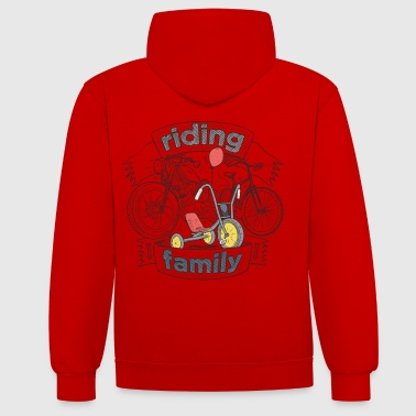 riding family - Kontrast-hettegenser