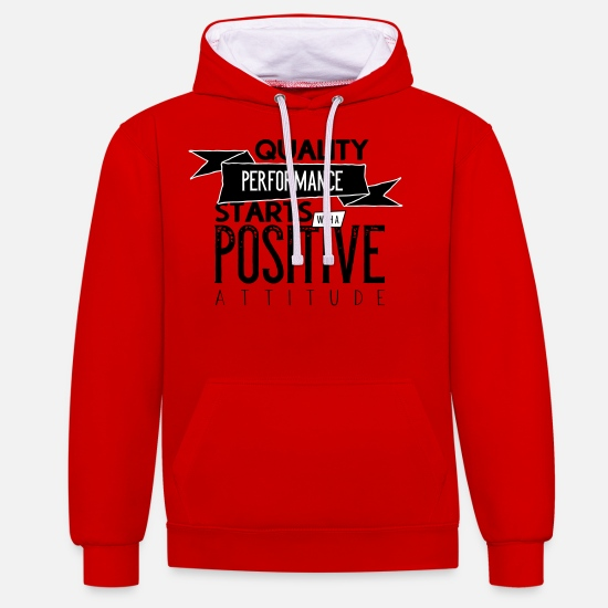 Travel Hoodies & Sweatshirts - Quality performance with a postive attitude - Unisex Contrast Hoodie red/white