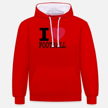 I Love Football i love football / I love football - Unisex Contrast Hoodie