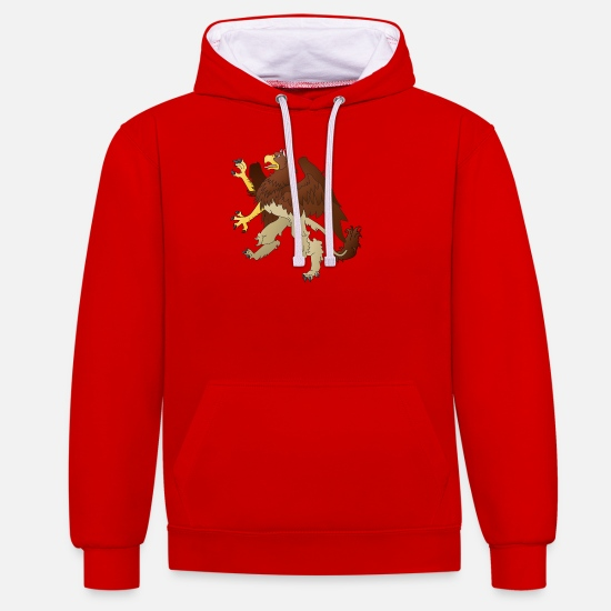 Love Hoodies & Sweatshirts - griffin 1299148 1280 - Unisex Contrast Hoodie red/white