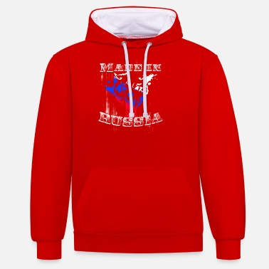 MADE IN RUSSIA - Unisex Hoodie zweifarbig