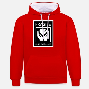 Fragile- Handle With Care Fragile Handle with care 1- Zerbrechliches Herz - Unisex Hoodie zweifarbig