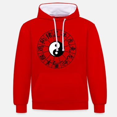 Astrology Chinese astrological signs - Unisex Contrast Hoodie