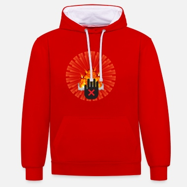 Atomic Bomb NO to the Atomic Bomb - Unisex Contrast Hoodie