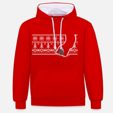 Winter Snowboard Winter - Unisex Hoodie zweifarbig