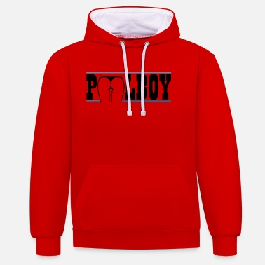 Pool Pool Boy, Swimming pool - badmeester cadeau - Unisex contrast hoodie