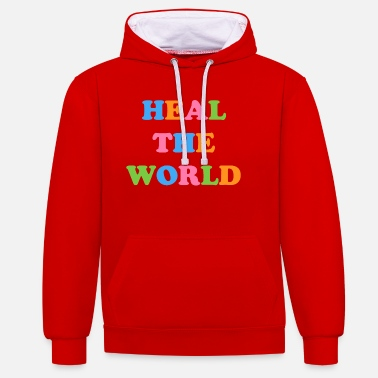 Life Energy HEAL the world - Unisex Contrast Hoodie
