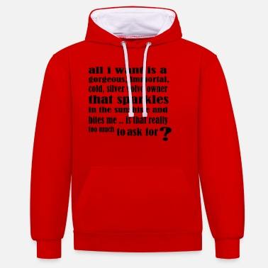 Volvo edwardcullen_all_i_want_new - Unisex Contrast Hoodie
