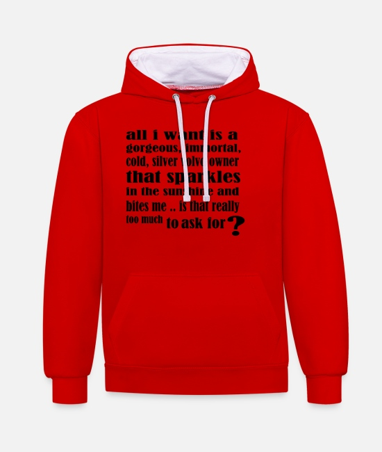 Pilot Hoodies & Sweatshirts - edwardcullen_all_i_want_new - Unisex Contrast Hoodie red/white