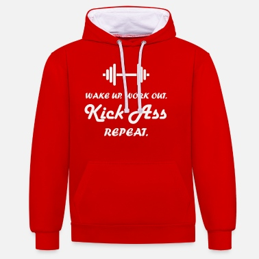 Work Out Wake up work out - Unisex Contrast Hoodie