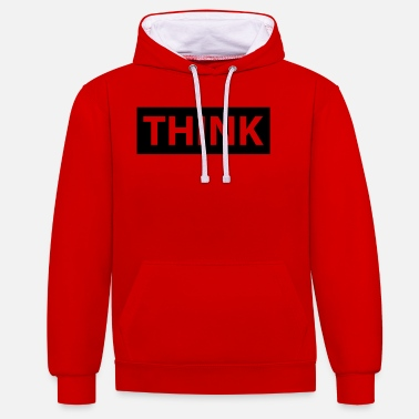 Thinking think - Unisex Contrast Hoodie