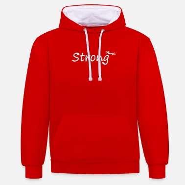 strong - Unisex Contrast Hoodie
