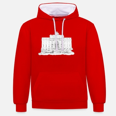 Trevi Fontein / Rome - Unisex contrast hoodie