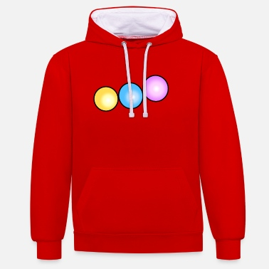 Beads colorful beads - Unisex Contrast Hoodie
