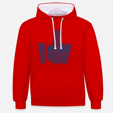 Love New York thumbs up - I love New York - Unisex Contrast Hoodie