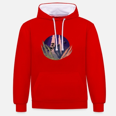 Marine Coral Fish in the Sea Oceanographer Gift - Unisex Contrast Hoodie