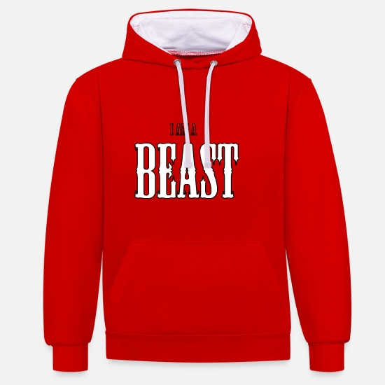 Beast Mode Hoodies & Sweatshirts - Beast - Unisex Contrast Hoodie red/white