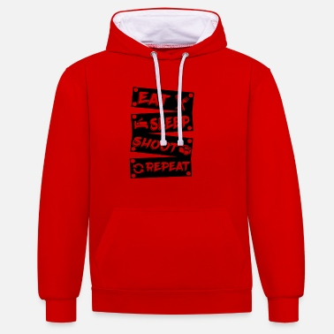 Photographer Camera Images Sleeping - Unisex Contrast Hoodie
