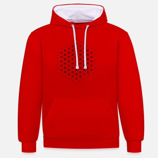Geometry Hoodies & Sweatshirts - Sacred Geometry - Unisex Contrast Hoodie red/white