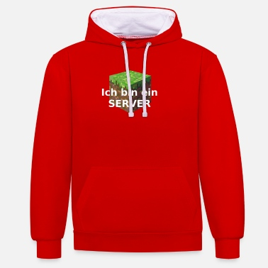 Server Message I am a SERVER - Unisex Contrast Hoodie