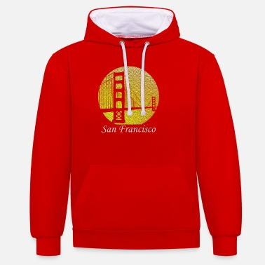 San Francisco San Francisco Golden Gate Bridge - Unisex Hoodie zweifarbig
