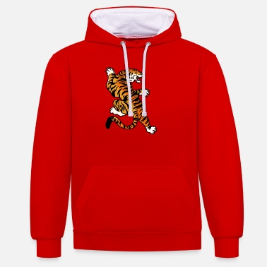 Japan Tiger art Japan - Unisex Contrast Hoodie